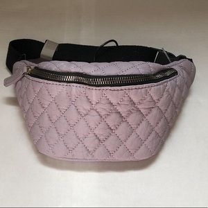 2/32$ purple quilted fanny Pack NWT